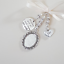 Wedding-bouquet-charm-silver-oval-locket-034-missing-you-as-I-walk-034-amp-034-dad-034 thumbnail 1