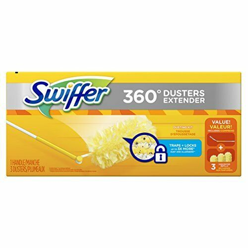 3 Count Duster Refill Swiffer 360 Dusters Extendable Handle Starter Kit