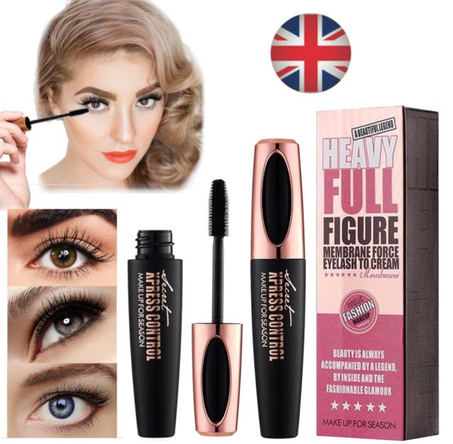 126fb8773da 4D Silk Fibre Mascara Eyelash Waterproof Extension Volume Long Lasting Make  Up