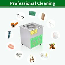 Stainless Steel Ultrasonic Cleaner 6 15l Liter Heated Heater Timer Industry Lab