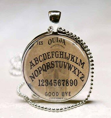 Ouija Board Spirit Board Goth Style Halloween Glass Dome Necklace Pendant (PD047