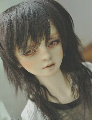 "BJD Doll Hair Wig 6-7"" 1/6 SD DZ DOD LUTS Black Medium Wavy"