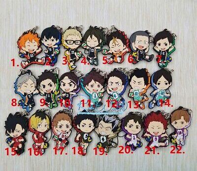 Japan Anime Haikyu Haikyuu Rubber Strap Phone Charm Keychain Keyring Cute Gift