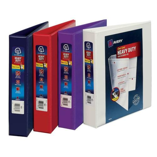 """VARIOUS SIZES AVERY 3-Ring Binder Inch Lot PACK Office View Heavy Duty School D/"""""""