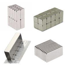 50 100 Pcs Magnets Block Cube Rare Earth Neodymium Magnetic N50 N48 N52 All Size