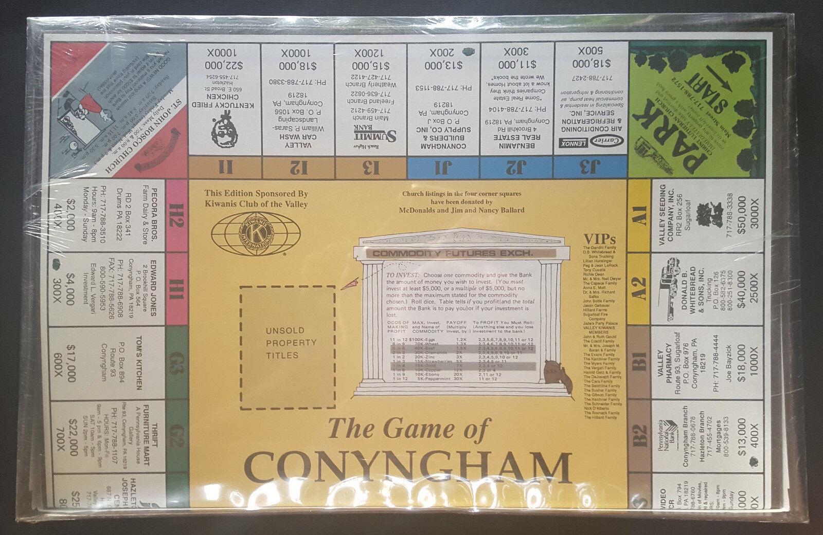 Das spiel der conyngham - vintage - brettspiel zu ehren conyngham - neu   versiegelt