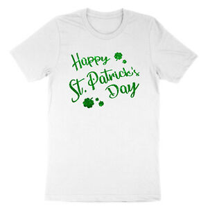 Happy-St-Patricks-Day-Green-Clover-Irish-Lucky-Charm-Shamrock-Unisex-T-shirt