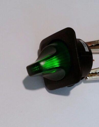 Large12V 25A illuminated toggle switch Green