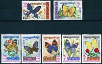 Cambodia Butterfly Issues of 1983 Complete Set 7 MNH Stamps Scott's 386 to 392