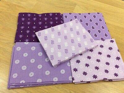 Fat Quarter Bundle Blenders Bright Pack of 5 100/% Cotton