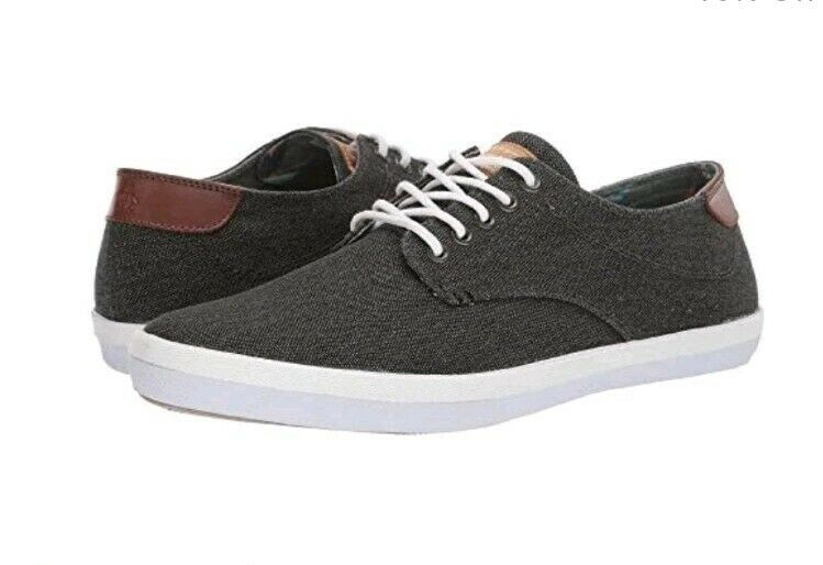NEW Original Penguin Mens sz 9 Douglas Black Sneaker Shoes Denim Canvas Casual