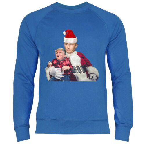 Herren Sweatshirt Putin Weihnachtsmann Trump Weihnachten