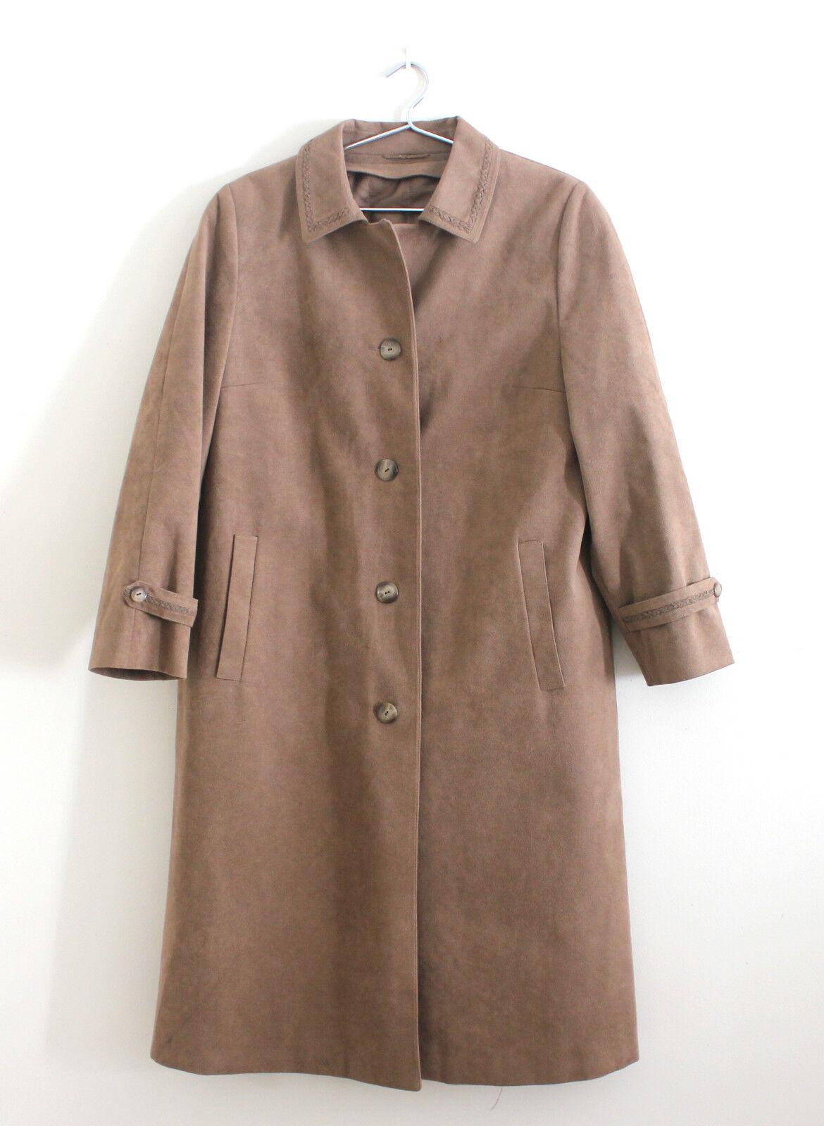 Ladies Alcantara Microsuede Coat Size 20 Worhrl Markenkleidung with Fall Spring