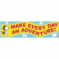 Eu 849743 Peanuts Snoopy Flying Ace Motivational Banner Classroom Decorative