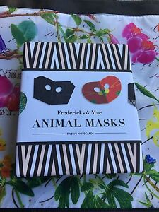 Fredericks-amp-Mae-Animal-Mask-Notecards-Fredericks-and-Mae-12-cards