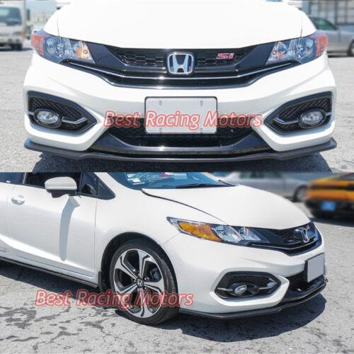 Fits 14-15 Honda Civic 2dr Urethane Aero Style Front Bumper Lip