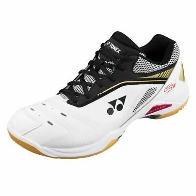 Footwear Badminton white/gold Yonex Unisex Power Cushion 65x Wide Badminton Shoes
