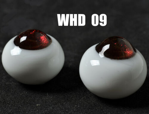 Round No Pupil 12mm Brown Red Glass BJD Eyes for BJD AOD DD Volks Luts Doll