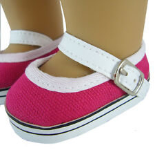 CLEARANCE Hot Pink Mary Jane Shoes Sneakers for 18 inch American Girl Accessory