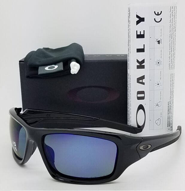 NEW Oakley Valve sunglasses Black Deep Blue Polarized 9236-12 AUTHENTIC 9236 NIB