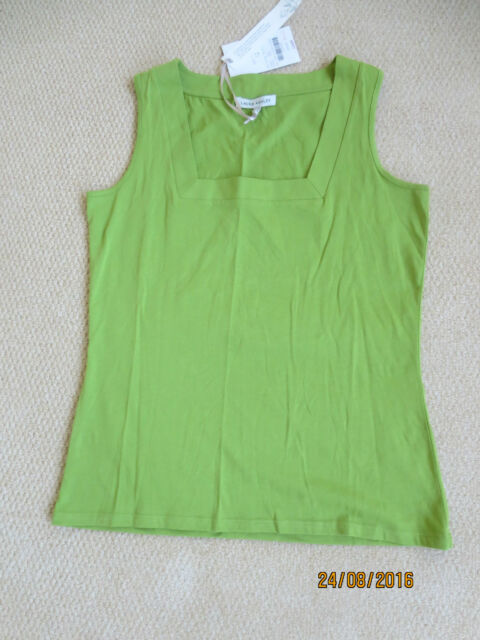 Ladies Laura Ashley Green Vest Top Size 12