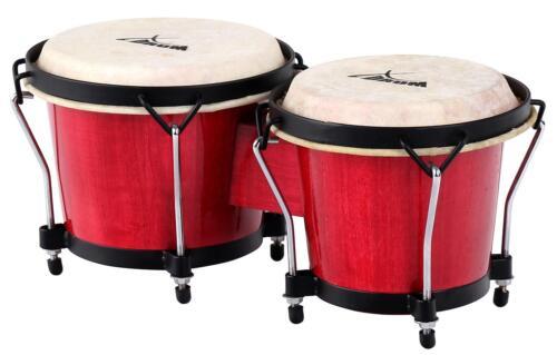 XDrum Bongo Trommeln Percussion instrument Latin Congas Schlaginstrument rot