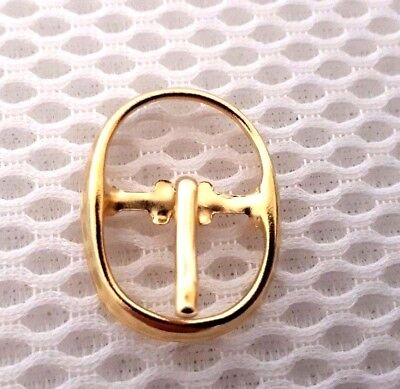10 x Hebilla De Metal Hebilla de Una sola Punta Zapato guarnicionero Leather Craft Correa 14MM/