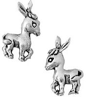 Sterling Silver Donkey Earings Earrings For Girls Hypo-allergenic 1/4 To 1/2
