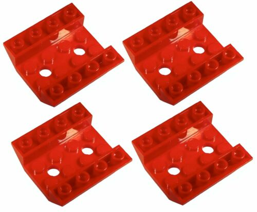 72454 Lego 4x Red Slope Inverted 4x4 NEW!!!