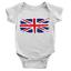 Union Jack Babygrow England British UK Flag Cool Souvenir Gift Present