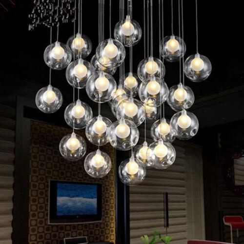 Modern LED Glass ball Ceiling Light Living Room Bedroom Pendant Lamps 36 Lights