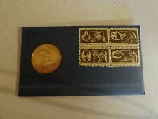 OLD COIN OR TOKEN MEDAL AND STAMP SET LOT AMERICAN REVOLUTION GEORGE WASHINGTON