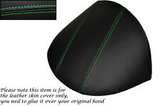 GREEN STITCH FITS MG MGF MG TF 1995-2005 DASH COWL HOOD LEATHER SKIN COVER ONLY