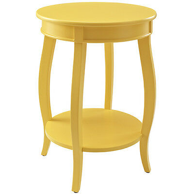 Colorful Silver Red Teal Grey Gold Bubblegum Wood Round Accent Side End Table