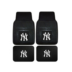New-MLB-New-York-Yankees-Car-Truck-Front-Back-Rubber-All-Weather-Floor-Mats
