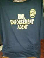 Bail Enforcement Agent Oval Black Unisex T-shirt Cotton Blend Gildan Brd