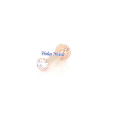 18ct Rose Gold 0.03ct Diamond Labret//Monroe//Lip//Ear//Body jewellery made for you