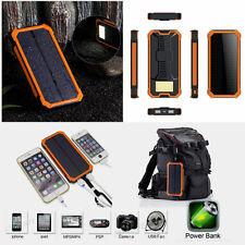 100000mAh Portable Solar  Dual USB Charger Power Bank For Mobile phone UK