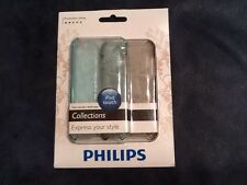 Philips Two Slim Shell iPod Touch Cases Light Blue & Brown Flower Graphic New