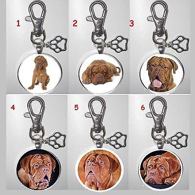 Bordeaux Dogge Dogue de Bordeaux Hund dog Schlüsselanhänger key chain XL