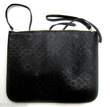 Warehouse Textured Black Clutch Bag