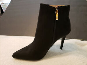 Suede-Black-Booties-Stiletto-Party-Shoes-High-Heel-Pointed-Toe-Ankle-Boots-New-7
