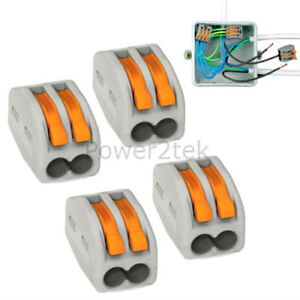 Amazing Details About 4 X Wago 2 Way Electrical Lever Connectors Wire Terminal Block Clamp 222 412 Wiring Digital Resources Antuskbiperorg
