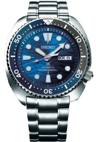 NEW SEIKO PROSPEX TURTLE SAVE THE OCEAN STAINLESS STEEL DIVERS BLUE DIAL SRPD21