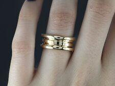 bvlgari 18k yellow gold bulgari bzero1 3 row wedding band ring 52