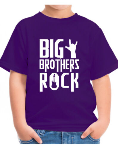 CHILDRENS BIG BROTHERS ROCK T-SHIRT BOYS KIDS TSHIRT TOP GIFT AGES 1-12