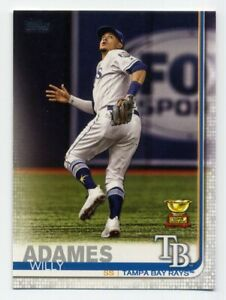 2019-Topps-Series-2-WILLY-ADAMES-Rare-ROOKIE-CUP-SUBSET-CARD-562-Tampa-Bay-Rays