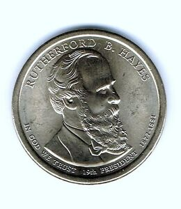 2011 RUTHERFORD B HAYES PRESIDENT DOLLAR 1-COIN BRILLIANT UNCIRCULATED