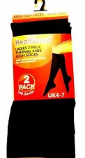 2xPAIRS HEATGURAD LADIES THERMAL KNEE HIGH SOCKS WINTER EXTRA WARMTH(UK 4-7)