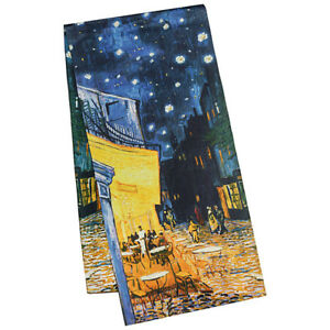 Satin Lang Arte Night Mode Van Gogh Seidenschal Vincent Damen Luxus 1717 cafe PZXkui